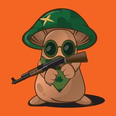 Mushroom Character Cartoon