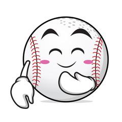 Blush face baseball cartoon character