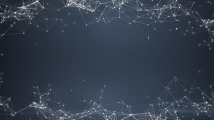 Sci-fi gray plexus shape abstract background