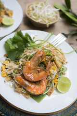 Food series: Pad-Thai with prawns, Famous Thai food