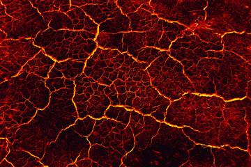 Lava ground drought, Concept lava drought.