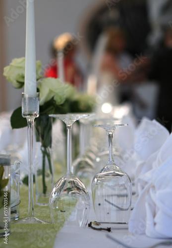 Tischdeko Hochzeit Blumen Und Gloser Feste Feiern Stock Photo And