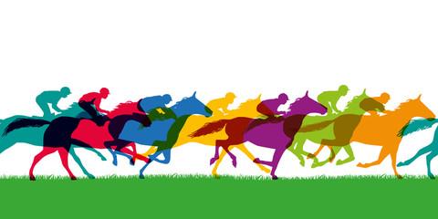 cheval - présentation - cheval de course - bannière - course hippique - silhouette