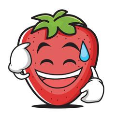 Sweat smile strawberry vector illustration
