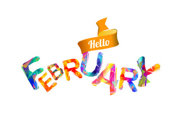 Hello february. Triangular letters