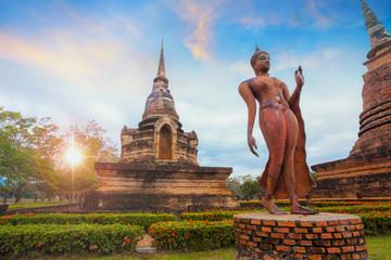 Wat Sa Si Temple at Sukhothai Historical Park, a UNESCO World Heritage Site in Thailand