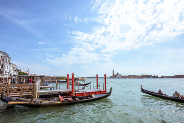 Grand Canal in Venice. Scenice Italian Lagoon
