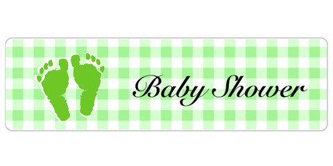 Baby Shower banner. Baby shower banner with foot prints