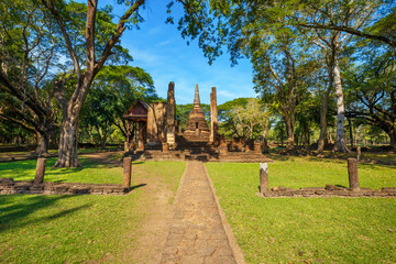 Wat Nang Phaya at Si Satchanalai Historical Park, a UNESCO World Heritage Site in Thailand