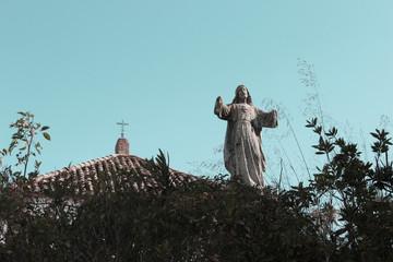 statue of Christian religion