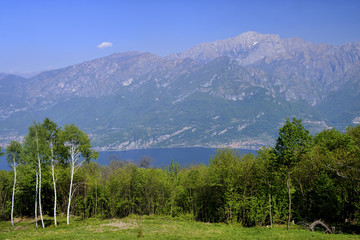 Madonna del Ghisallo (Lombardy, Italy): view of the Como lake