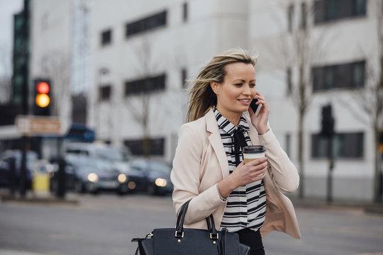 Businesswoman Going To Work