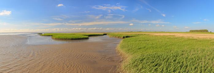 Panorama Wattenmeer am Dollart