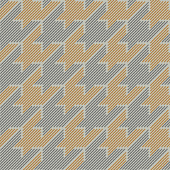 Houndstooth classical seamless pattern.