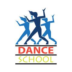 dance logo for dance school, dance studio. vector illustration