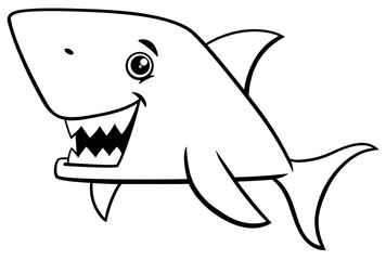 shark fish coloring page
