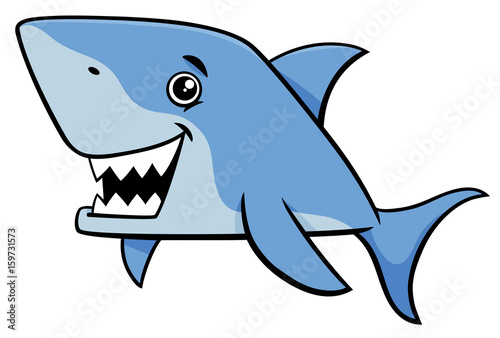 """shark Fish Cartoon Character"" Stock Image And Royalty"