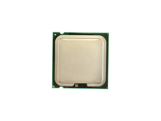 Processor on white background front side