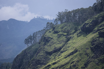 View from Little Adams Peak to Ella Rock, Sri Lanka