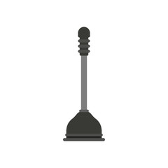white background with color silhouette of toilet plunger icon vector illustration