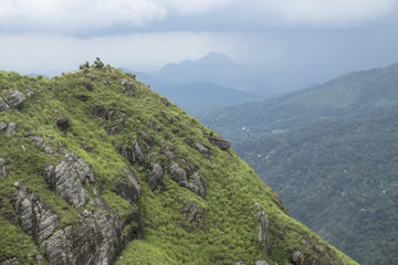 Little Adams peak shortly before rainfall, Ella, Sri Lanka