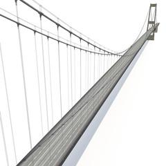 Printed roller blinds Bridge Great Belt Fixed Link Bridge on white. 3D illustration
