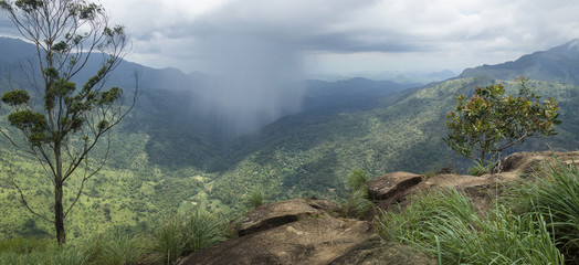 Raincloud in the valley of Ella, Sri Lanka