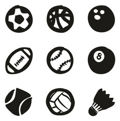 Ball Icons Freehand Fill