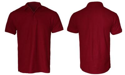 Dark Red Polo Shirt Mock up