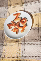 Coffee and letter cracker