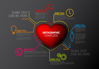 Red Heart Infographic Layout