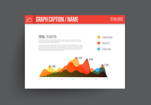 Colorful Shaded Line Graph Layout