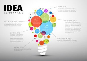 Abstract Lightbulb Infographic Layout