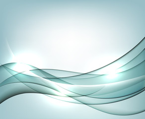 Blue vector Template Abstract background with curves lines. For flyer, brochure, booklet and websites design