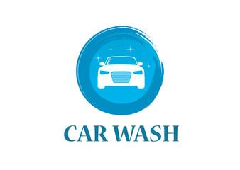 Car wash 2 Logo Design Template. Flat Style Design. Vector Illustration