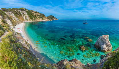 Wall Mural - Sansone beach with amazing turquoise water, Elba Island, Tuscany, Italy.