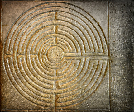 Stone labyrinth in Lucca. Tuscany. Italy