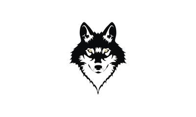 wolf emblem symbol icon vector logo