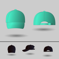 Ball cap. Vector icons for mobile apps, Web sites and print projects.