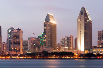 Section San Diego California Downtown City Skyline Waterfront