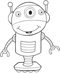 Robot Vector Illustration Art