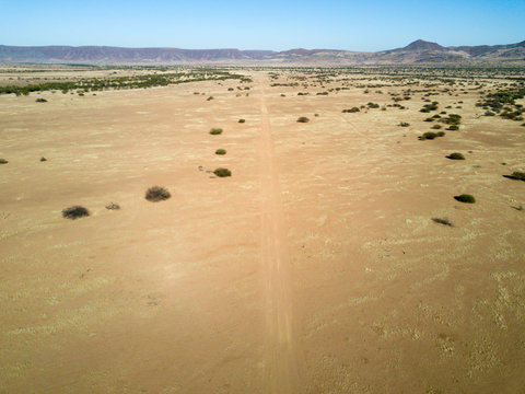 A Dirt Runway in Onyuva, Namibia