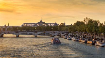 Seine River, Sunset Fototapete