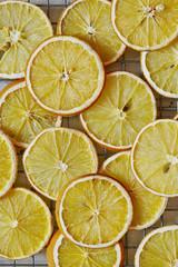 Slices of orange on cooling rack