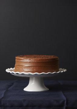 Studio shot of chocolate cake