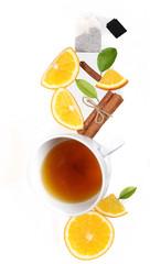 чай с апельсином и корицей всё висит в воздухе