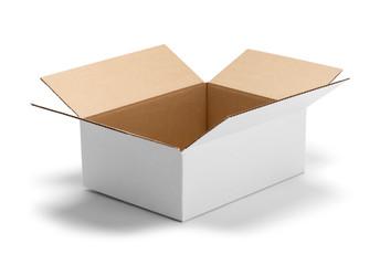 White Box Open Side View