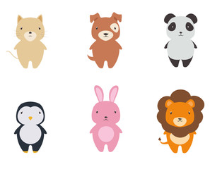 Cute Animal Vector Set