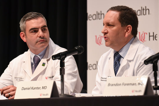 Dr. Daniel Kanter, Medical Director of the Neuroscience Intensive Care Unit, speaks about the statement of the condition and treatment of Otto Warmbier during a news conference at the University of Cincinnati Medical Center in Cincinnati