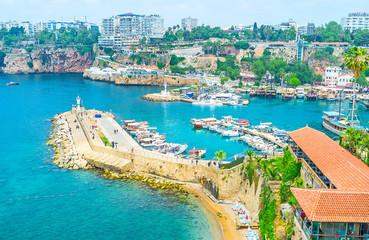 Kaleici port in Antalya